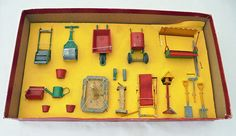 Britains Boxed Lead /Metal Garden Tools/ Features items in Toys & Games, Toy… Vintage Metal, Vintage Toys, Britains Toys, British Garden, Metal Toys, Advertising Signs, Toy Soldiers, Old Toys, Toys