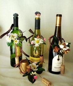 Vineyard Weddings Centerpieces Wine Bottle toppers.