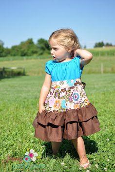 Ruffled Peasant Dress Sewing Pattern, Allana Ruffled Peasant Dress Sewing Tutorial