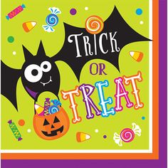 Gone Batty Lunch Napkins -Napkins.com - Gone Batty Lunch Napkins 192 ct for $8.73 - Halloween Party Supplies