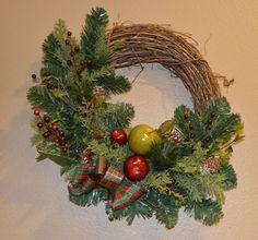 Christmas Wreath Apple Christmas Wreath by TheBloomingWreath, $44.99