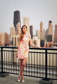 @Carly Cristman in Lilly Pulitzer Summer '13- Shiloh Dress in Sunkissed