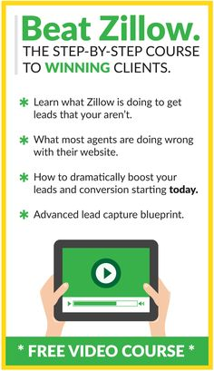 We give you all the information you need, broken down step by step, to get leads like Zillow. As well as improve your website and conversion rate.