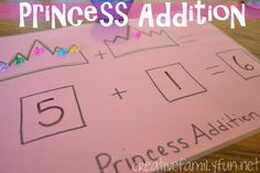 Math Play: Princess Addition ~ Creative Family Fun