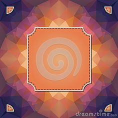 Colorful kaleidoscope vector background with label