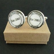 Personalised Cufflinks Stamp Design