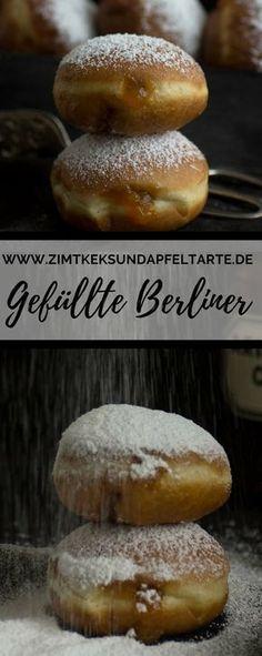 Fluffige Berliner, Kreppel oder Krapfen, gefüllt mit Marmelade, einfach nach meinem Rezept selber backen