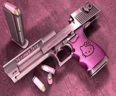 Hello Kitty pink gun...cute and dangerous...stop ittttttt how do I get this!!!