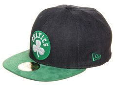 Boston Celtics Denim Suede 59Fifty Fitted Cap by NEW ERA x NBA