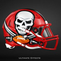 NFL Concept Helmets by Ultimate Effects Buccaneers New Nfl Helmets, Football Helmet Design, College Football Helmets, New Helmet, Sports Helmet, School Football, 32 Nfl Teams, Nfl Football Players, Football Art
