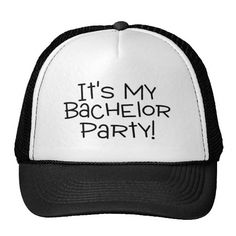 Its My Bachelor Party Groom Hats