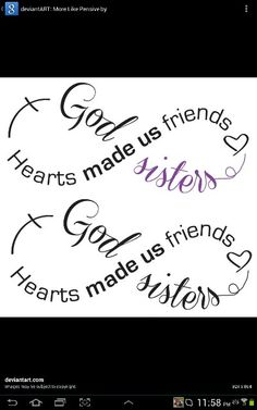 My sisters and I are getting a sister tattoo, just not sure what. I like this one!