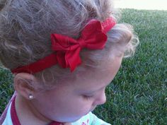 Tiny Red Bow Headband   Fits All ages by SparklingTwinkies on Etsy, $5.95
