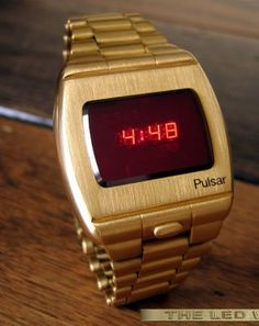 70s Gold Watch with the red L.E.D. display..... These were really big for some reason.