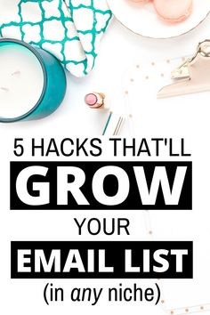 Do you want to learn how to grow your email list? Fast? HEre are 5 hacks that skyrocketed my list growth. Email marketing doesn't have to be a mystery. You can grow your list of subscribers with these tips to help you. Best Email Marketing, Email Marketing Strategy, Business Marketing, Content Marketing, Online Business, Digital Marketing, Lead Magnet, Def Not, Social Entrepreneurship