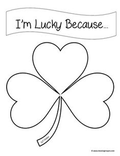 I'm Lucky Because by SLP ChelseaSimple no-prep activity for St. Patrick's Day! Have students brainstorm 3 reasons why they're lucky. They can write or draw each reason on each leaf of the clover!Use as a language or social skills activity!