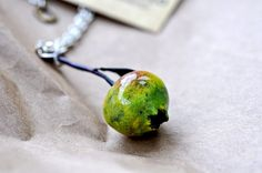 Wild Apple  Field Study Pendant Necklace by LiaBowenStudio on Etsy, $85.00