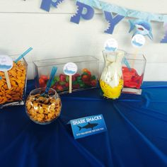 Fish Bar, life preservers, puffer fish & a school of fish snacks for the party.