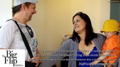 At-home dad Chris and breadwinner mom Gianina enjoy a laugh together.