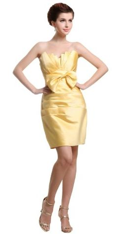 yellow cocktail dress 2