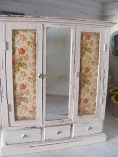 Your place to buy and sell all things handmade Double Wardrobe, Clothes Rail, Dollhouse Furniture, Pale Pink, Scale, Shabby Chic, Miniatures, Dolls, Etsy