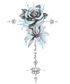 Perfectly Imperfect Rose, Lily Unalome - My best tattoo list Cool Arm Tattoos, Spine Tattoos, Dream Tattoos, Arm Tattoos For Women, Badass Tattoos, Mom Tattoos, Pretty Tattoos, Beautiful Tattoos, Body Art Tattoos