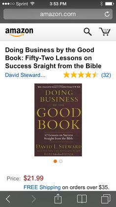 Doing Business By The Good Book--an inspiring resource recommended by The Biz Fizz, LLC. www.22s.com/thebizfizz