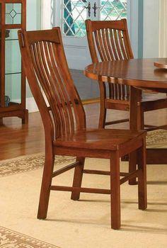 Laurelhurst Slatback Dining Side Chair in Mission Oak | A America Furniture | Home Gallery Stores