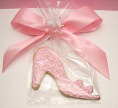 PRINCESS TEA PARTY COOKIE | Princess Cinderella Slipper Cookie Wedding, Birthday Tea Party Favor