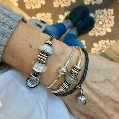 Lovely lunch with @sarahkbeads and @cherlang meant I picked up #pandora GWP and I'm on the #pandoraessence bandwagon now what beads will I start with #truebeadz #trollbeads
