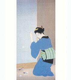 上村松園 Syouen Uemura『晩秋』大阪市立美術館蔵