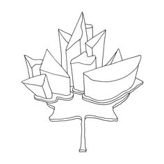 Abstract Line Drawing / Page 9847 / The Page Colouring Book / Canadian Maple Leaf / Free Colouring Page for Adults and Childr. Leaf Coloring Page, Free Coloring Pages, Coloring Books, Abstract Drawings, Abstract Lines, Canadian Maple Leaf, Canada Eh, Vintage Airstream, Travel Shirts