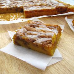 Pumpkin Cinnamon Roll Coffee Cake - would never guess it has a cake mix, pudding mix, and canned pumpkin base