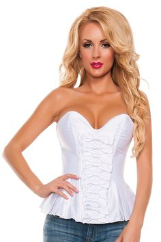 Starline Women's Satin Peplum Corset *** You can get more details here : Plus size lingerie