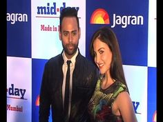 Elli Avram and VJ Andy at mid- day relaunch party. The newspaper was relaunched at JW Marriot Hotel in Juhu. Gossip, Superstar, Bollywood, Interview, Photoshoot, Day, Youtube, Pictures, Photos