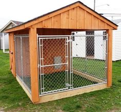 Shed Plans Amish Built Garages, Garden Sheds, Utility Buildings, Small Barns in Lancaster, PA Now You Can Build ANY Shed In A Weekend Even If You've Zero Woodworking Experience! Dog House Plans, Shed Plans, Large Dog Crate, Large Dogs, Large Dog House, Large Dog Pen, Small Dogs, Dog Kennel Designs, Kennel Ideas