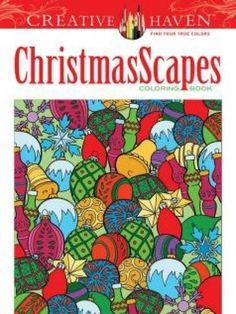 Adult Coloring: Creative Haven ChristmasScapes Coloring Book by Jessica Mazurkiewicz Paperback) for sale online Holiday Stress, Holiday Mood, Adult Coloring Pages, Free Coloring, Colouring, Creative Haven Coloring Books, Thing 1, Barn Quilts, Christen