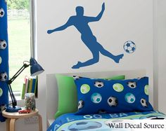 Soccer Wall Decal  Football Wall Decal  Boys by WallDecalSource, $25.00