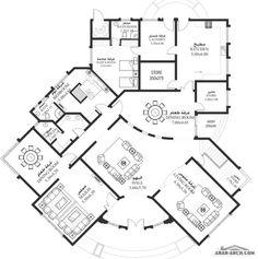 خرائط الفيلا HA-07 - 4 غرف نوم سكن أبعاد المسكن 25.42م عرضx24.77م عمق