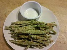 Green Bean Fries.  Healthy, Vegetarian, Low Calorie, Low Carb, Low Fat, High Fiber, Baked