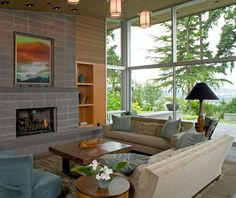 Neat Interior4 Cozy Modern Landscape Inspired Home Displaying Earthy Nuances in Bellevue, Washington