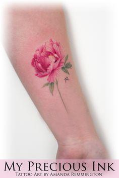 Beautifull peony tattoo. Pioenroos #peony #pioenroos #peonytattoo #ink #inkstinctsubmission #flowertattoo #flowers #botanical #botanicaltattoo #art #mypreciousink #pioenroostattoo #tattoo #tattoos #tattooart