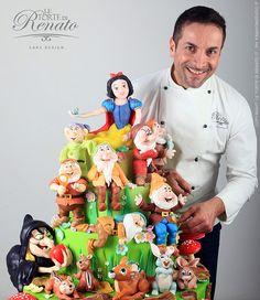 Snow White, Seven Dwarfs, Wicked Witches, Forest Animals, by Le Torte di Renato