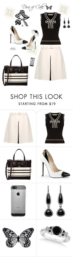 """""""Black & White"""" by Diva of Cake on Polyvore featuring Just Cavalli, Oasis, Kate Spade, Visionnaire and Allurez"""