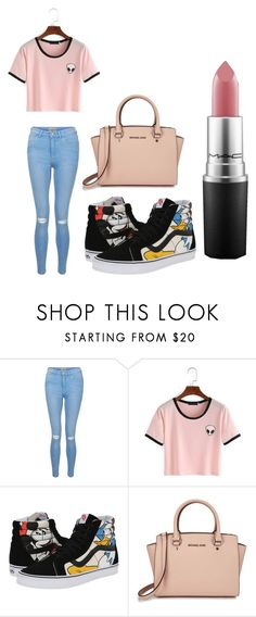 """Summer shopping outfit"" by millie-simpson on Polyvore featuring New Look, WithChic, Vans, Michael Kors and MAC Cosmetics"