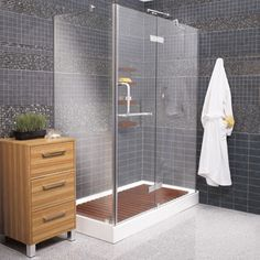 Image result for shower with glass on three sides