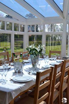 Was will man mehr als ein gemeinsames Dinner im Wintergarten?