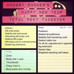 Hungry Runner's #HappyNewYear Total Body Takeover #Workout