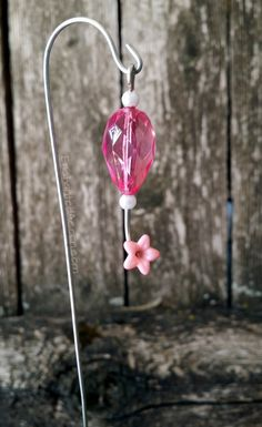Miniature Fairy Garden Hummingbird Feeder by Enchanted Acorn
