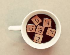 Coffee Photograph Scrabble Tiles Cafe Art Cream by birdandbloke Coffee Talk, I Love Coffee, Coffee Break, My Coffee, Coffee Drinks, Coffee Cups, Coffee Life, Sweet Coffee, Coffee Barista
